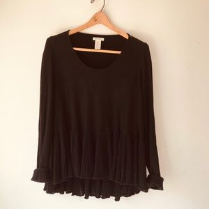 Ruffled Sweater Shirt/ Max Studio